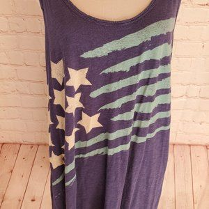 P.J. Salvage Pajama flag tank top blue and white